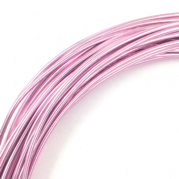 Aluminium wire - 10 metre coil - thickness 1mm - colour light pink
